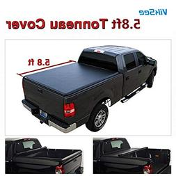 Viksee 5.8ft Roll up Tonneau Cover- Fit 04-06 Chevy Silverad
