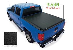 Lund 96893 Genesis; Elite Roll Up Tonneau; Black;