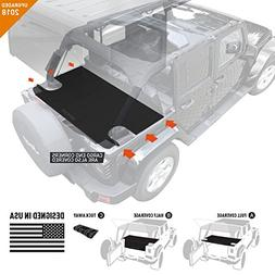 GPCA Jeep Wrangler Unlimited Trunk Cargo Cover for 2007- Pre