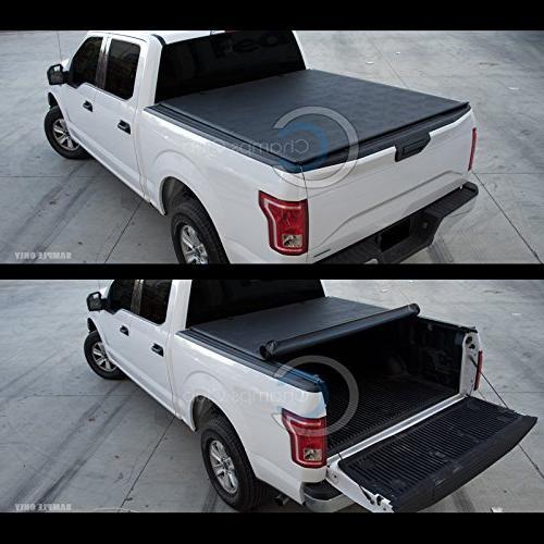 Autobotusa Black Lock Roll Truck Bed Tonneau Cover 2002-2008 Regular/Crew Cab 2003-2009 Dodge Ram 2500 Pickup Truck 6.5 ft Short Bed