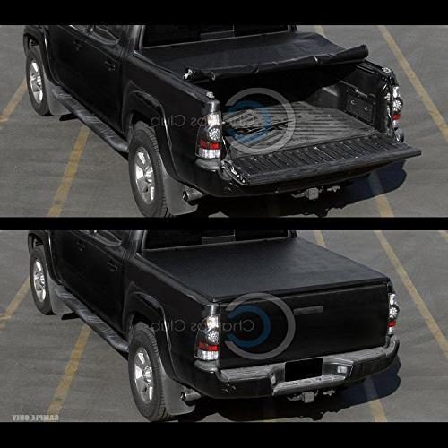 Autobotusa Black Roll Truck Bed Tonneau Cover 2009-2015 1500/2500 / 3500 Cab ft Short
