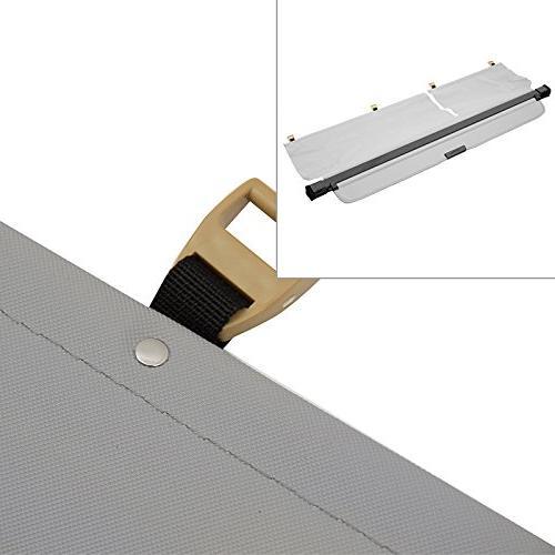 gray retractable cargo cover trunk security rear