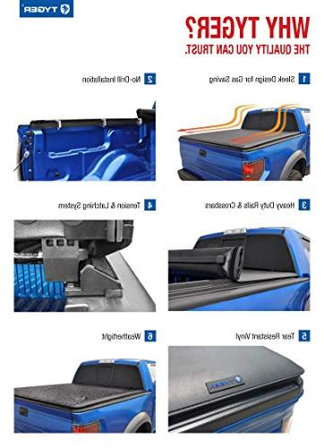 Tyger Auto Up Bed Tonneau Cover TG-BC1N9034 with 2005-2019 Suzuki 5' models without the Utili-track System