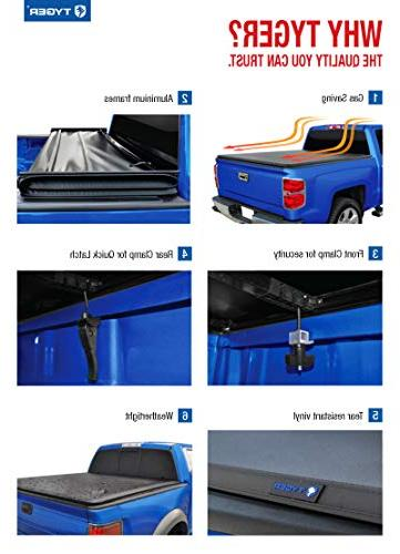 Tyger Auto TG-BC3D1044 T3 Tri-Fold Tonneau Works with 2019 1500   Bed