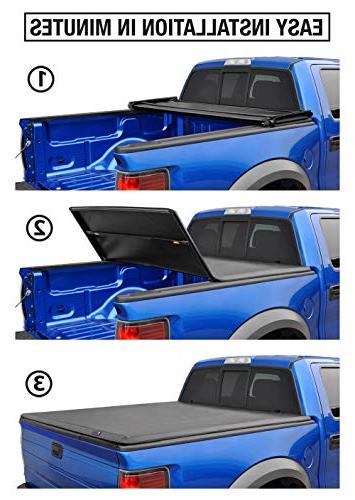 Tyger Auto TG-BC3D1044 Tri-Fold Tonneau Works 1500 Without   Bed