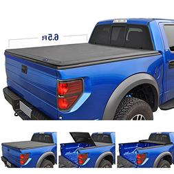 Tyger Auto TG-BC3C1007 Tri-Fold Tonneau Truck Bed Cover (For