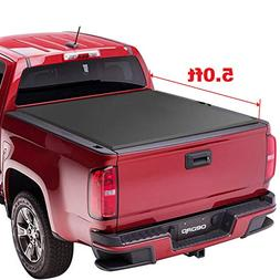 oEdRo TRI-FOLD Truck Bed Tonneau Cover Compatible with 2015-