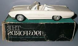 AMT Vintage 1963 FORD THUNDERBIRD CONVERTIBLE White With Box